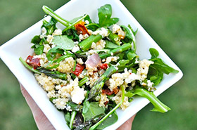 Quinoa Arugula and Roasted Veggie Salad Quinoa, Arugula and Roasted Veggie Salad