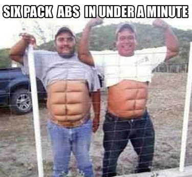 exercise funny 6 pack