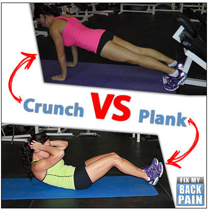 fix my back crunch vs plank