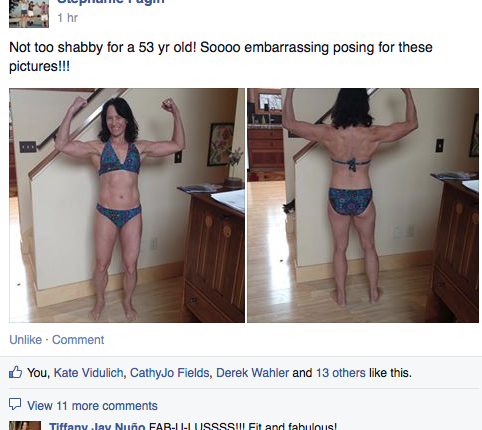 ch diet fb comment bikini shot