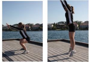 squat jump a b