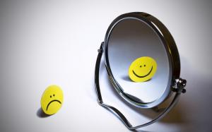 mirror happy sad face