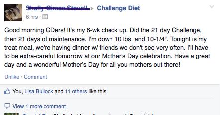 ch diet 10 lbs down