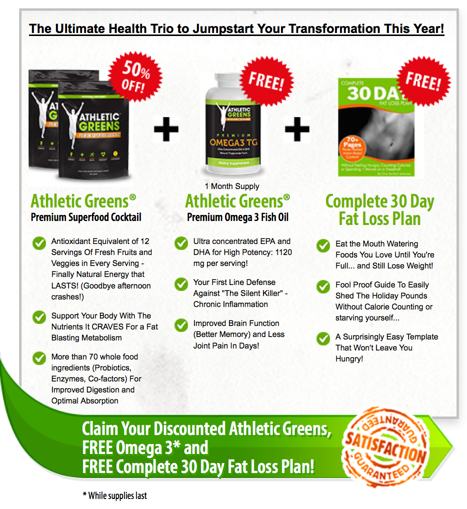 athletic greens jan promo