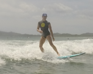 me surfing costa rica