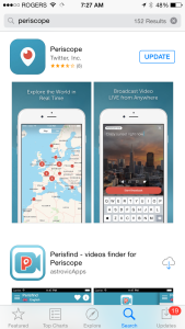 periscope in app store